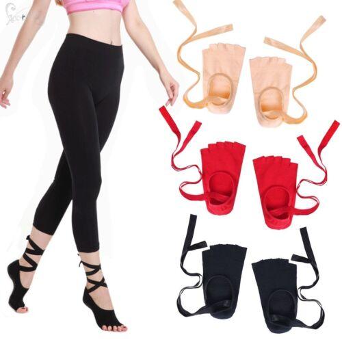 Sport Socks-Women Non-Slip Skid Grip Toeless Socks with Ribb