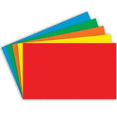 Unruled Primary Color Index Cards By Top Notch Teacher - 4x6 - 4x6 Unruled