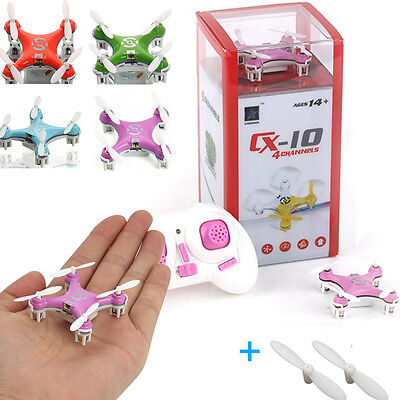 Cheerson CX-10 2.4G 4CH 6-Axis GYRO Mini RC Quadcopter LED UFO Drone Helicopter