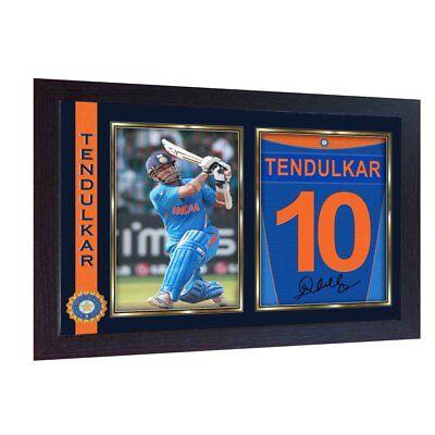 Sachin Tendulkar Cricket Indian signed poster autograph print photo FRAMED