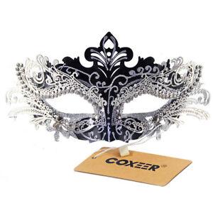 Metal Laser-cut Crystals Ball Prom Princess Venetian Masquerade Mask Fancy Dress