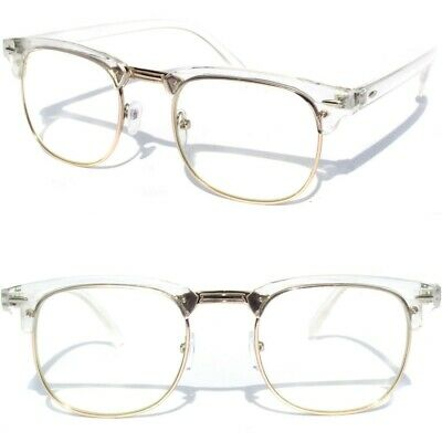 Browline Half Frame Top Brow Retro Style Clear Lens Glasses Transparent (Top Designer Glasses)
