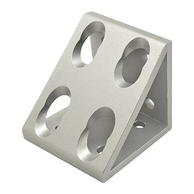 8020 Inc T-slot Aluminum 8 Hole Gusseted Bracket 15 Series 4338 N