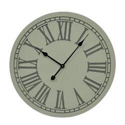 Zeckos Elegant Roman Numeral Large Round Wall Clock 23 inch