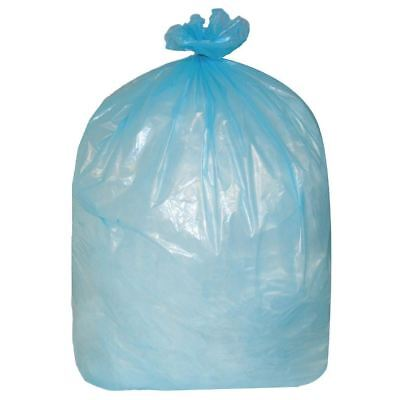 Pack of 200 Jantex Garbage Bags Blue 80 Litre Recycled Polythene