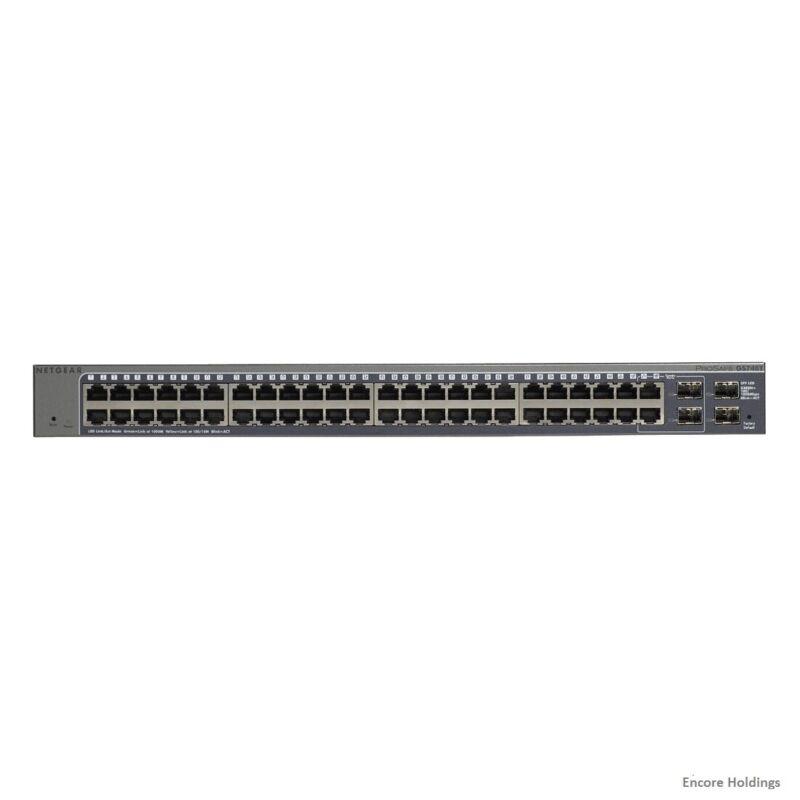 NETGEAR ProSAFE 48-Port 10/100/1000 Gigabit Ethernet Switch Blue GS748T-500NAS