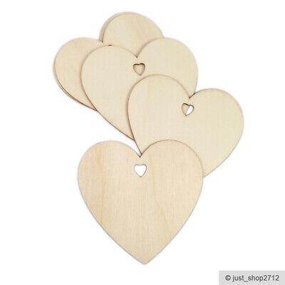 Holzherzen 10cm Holz Herz Holzscheiben Basteln Hochzeit Weihnachten Deko *NEU* (Holz Weihnachten Basteln)