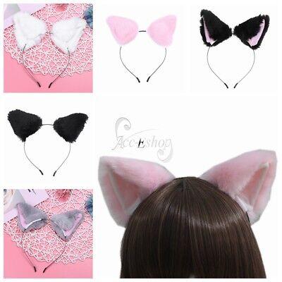 Women Sexy Anime Halloween Costume Fox Cat Ears Hair Hoop Headband Party Cosplay