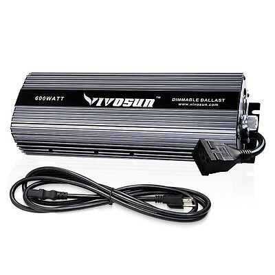 VIVOSUN 600w Watt Dimmable Electronic Digital Ballast for Grow Light HPS MH Bulb