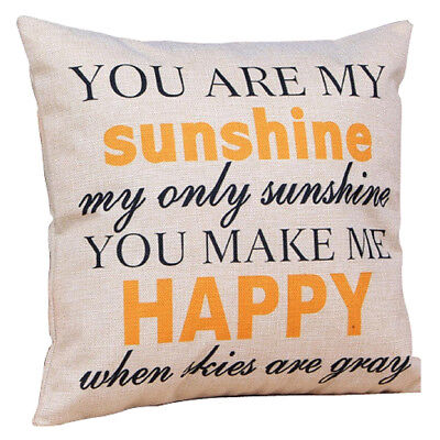 """""""You are my Sunshine """"Leaning Cushion Throw Pillow Covers Pillowslip Case Q3B1"""
