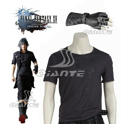 New Final Fantasy XV Noctis Lucis Caelum T-Shirt Cosplay Costume Glove Comic con - Comic Con Costumes