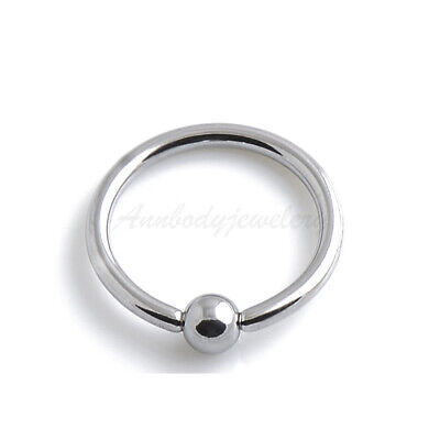 1pc 16g 14g all sizes Steel Closure Ball BCR Captive Bead Ring Septum Ear Lope