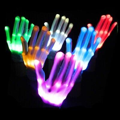 Halloween Skeleton Dance (LED Light Glove Finger Lighting Electro Rave Party Dance Skeleton Halloween)