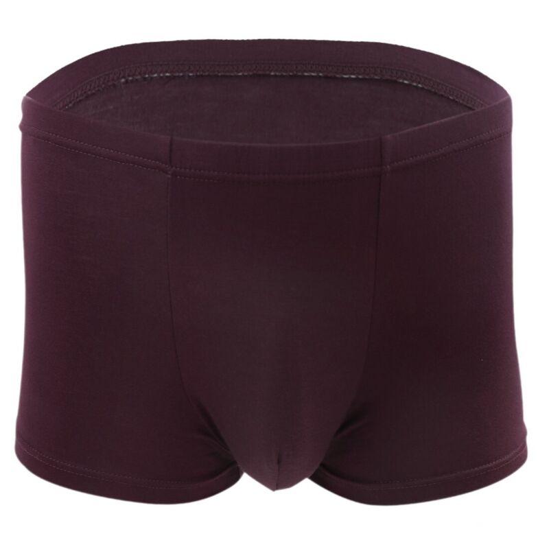 4Color Men Comfort Bamboo Seamless Breathable Fiber Boxer Brief Shorts Underwear