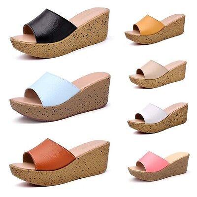 New Women Summer Beach Sandals Contracted Wedge Platform Flip Flop Shoes Sandals Platform Wedge Flip Flop