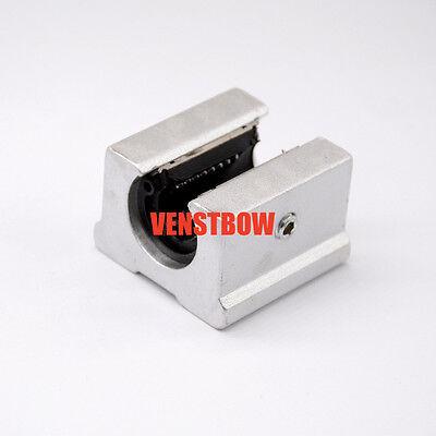 4pcs 12mm Sbr12uu Router Motion Bearing Solide Block Unit Xyz Cnc Sbr Series