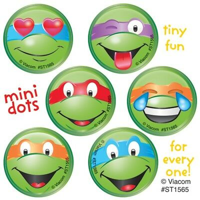 60 Teenage Mutant Ninja Turtles Faces Mini Dot Stickers Party Favors TMNT - Ninja Turtles Favors