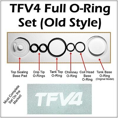 TFV4 Full ORing Kit OLD STYLE BASE ( ORings O-Rings smok Seals ) LEAKBUSTERS!