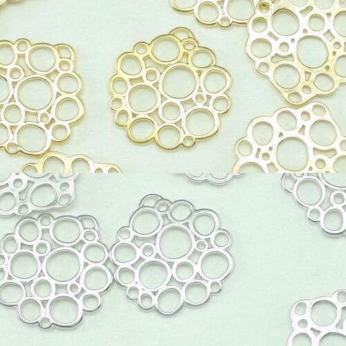 Bubbles Metal Beads Pendants Gold Silver Beads for Jewelry Making Supplies #185