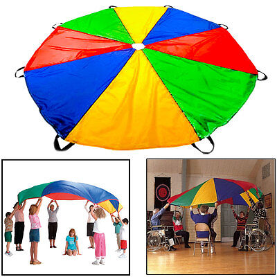 2M Diameter Kids Play Rainbow Parachute Outdoor Game Development Exercise GW