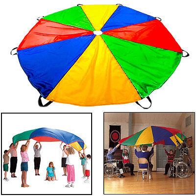 10 ft Kids Rainbow Play Parachute Outdoor Indoor Children's Activity Game Sport