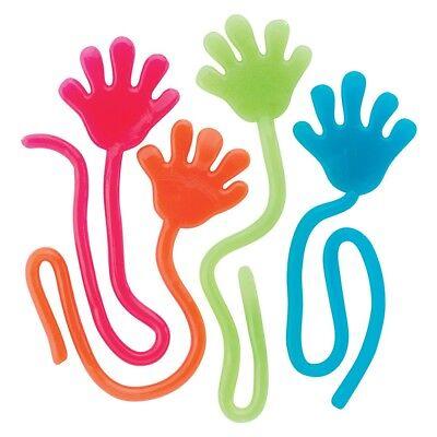 Adorox 72 Pieces Vinyl Glitter Sticky Hands Party Favor Birt