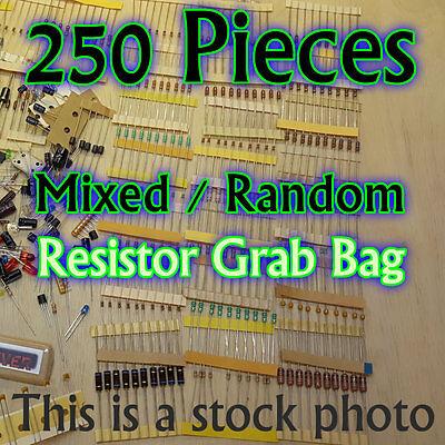 250 Pcs - Resistors - Electrical Component Grab Bag Assortment Diy Or Arduino
