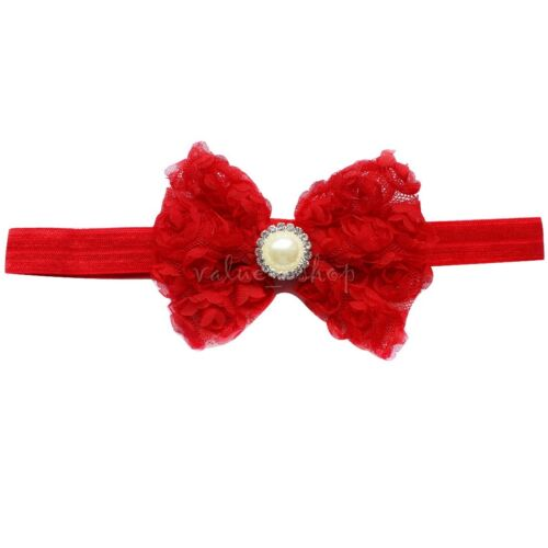 Kids Girl Baby Toddler Infant Flower Headband Hair Bow Band Headwear Accessories