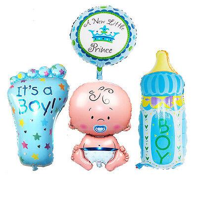 Boy Foil Helium Balloons For Newborn Baby Shower Christening Birthday Party Set