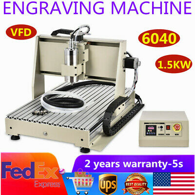 3 Axis Cnc 6040t Router Engraver Metal Milling Drill Engraving Machine 1500w