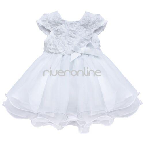 Baby Mädchen Kleid mit Schleife Taufkleid Blumenmädchen Prinzessin Fest Kleider