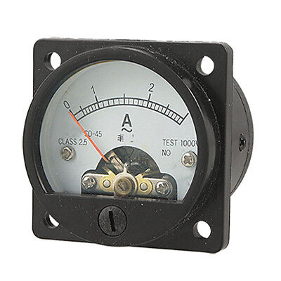 Ac 0-3a Round Analog Panel Meter Current Measuring Ammeter Gauge Black H3c6