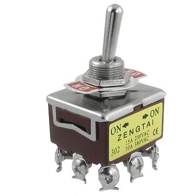 Ac 250v 15a 380v 10a Onon 2 Position 3pdt 9 Screw Terminals Toggle Switch