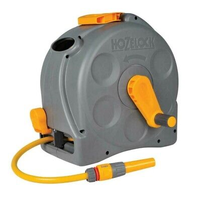 Hozelock 25m Compact Reel Hose 2-in-1 Functionality Wall Mounted / Free Standing