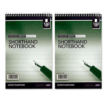 Short Hand Notebook Fine Quality Ruled Pages Handy Note Writing Pad 160 Pages