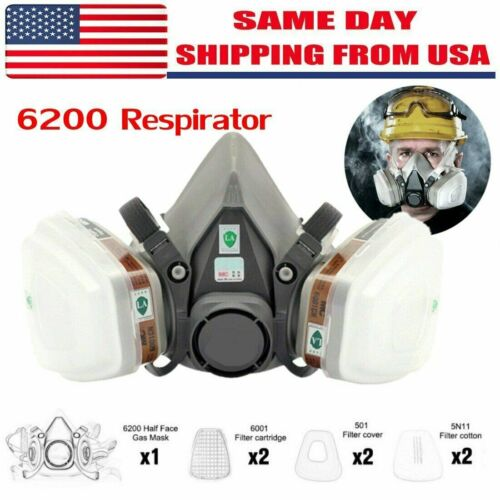 Special offer 7 in 1  Gas Mask Spray Paint 6200 Respirator Safety USA