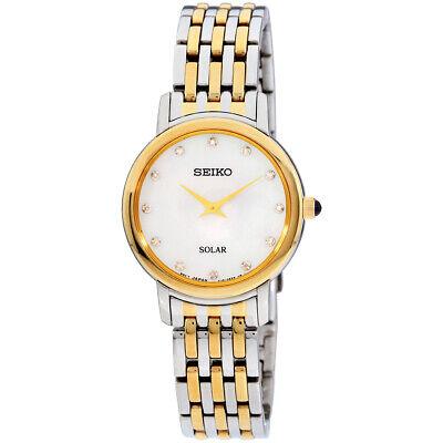 Seiko Diamonds Quartz Mother Of Pearl Dial Ladies Watch SUP398 **Open Box**