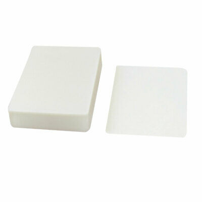 100pcs Clear White Plastic 66mmx95mm 2r Photo Paper Cards Laminating Pouch Film