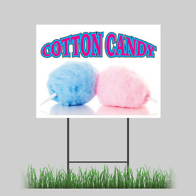 12x18 Cotton Candy Yard Sign Fairy Floss Sugar Concession Stand Sign