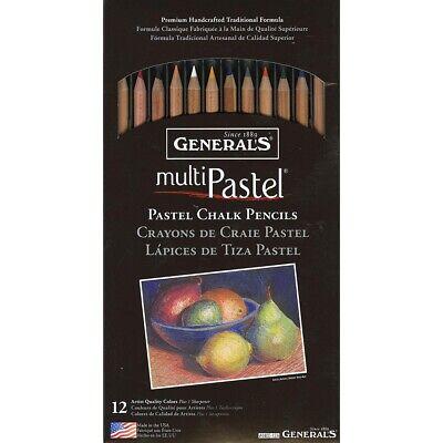 General Pencil Company Inc Pastel Chalk Pencils 12/Set W/Sha