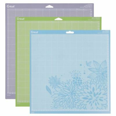 """Cricut Tools Accessories Variety 3 pack Adhesive Cutting Mat 12"""" x 12"""" 2002217"""