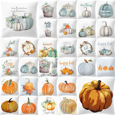 High Quality Pumpkin Cushions Pillow Case Heart Halloween Thanksgiving Cover -