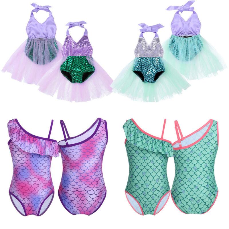 Baby Girl Bikini Swimwear Kid 1-Piece Swimsuit Mermaid Costume Bathing Beachwear