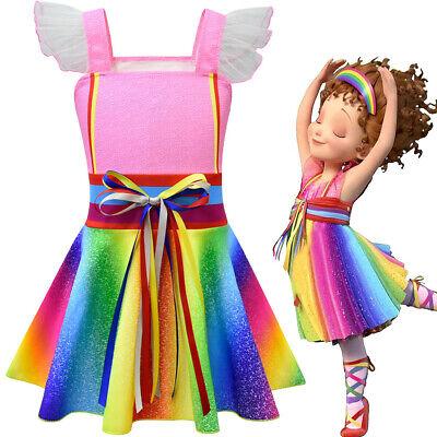 Kids Girls Rainbow Dress Fancy Nancy Cosplay Summer Pink Princess Casual Costume - Fancy Dresses Kids