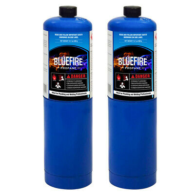 Bluefire 2x Standard Propane Gas Fuel Cylinder Canister14 Oz 97 High Purity