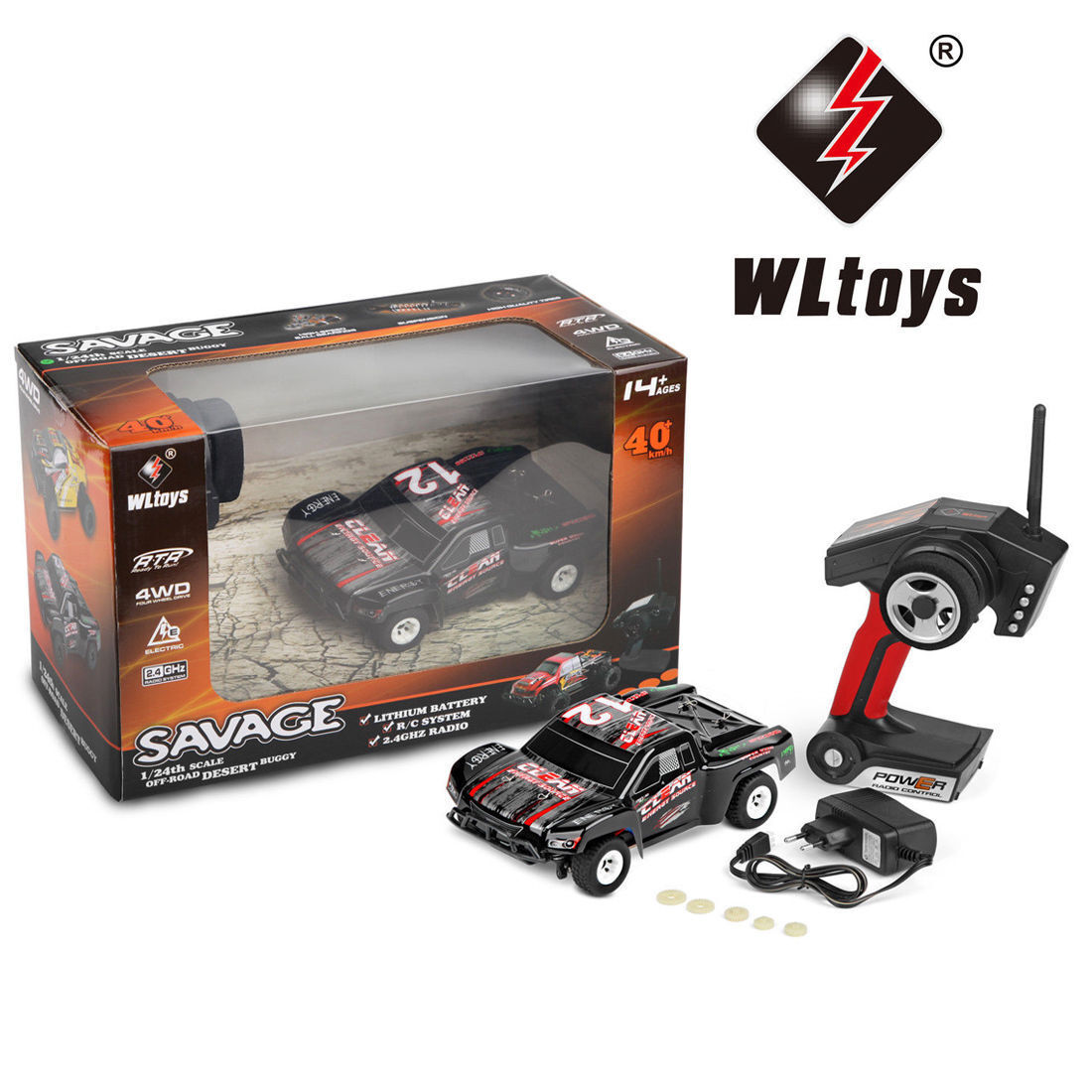 Wltoys WL Toys A232 2.4G 4WD 35KM/H 1/24 RC Radio Control Car US Seller