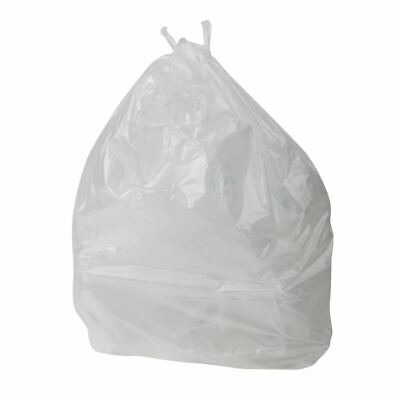 Jantex Bin Bags Clear 100Ltr Hold up to 5kg of Waste Pack Quantity - 200