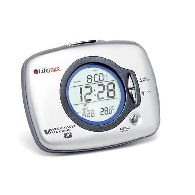 Lifemax Under Pillow Vibration Alarm Clock Temperature display snooze backlight