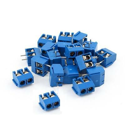 20pcs Kf301-2p 2-pin Plug-in Terminal Block Connector 5.08mm Pitch Through Hole