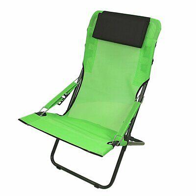 Silla de camping RCG Silla plegable verde Silla de playa Respaldo regulable